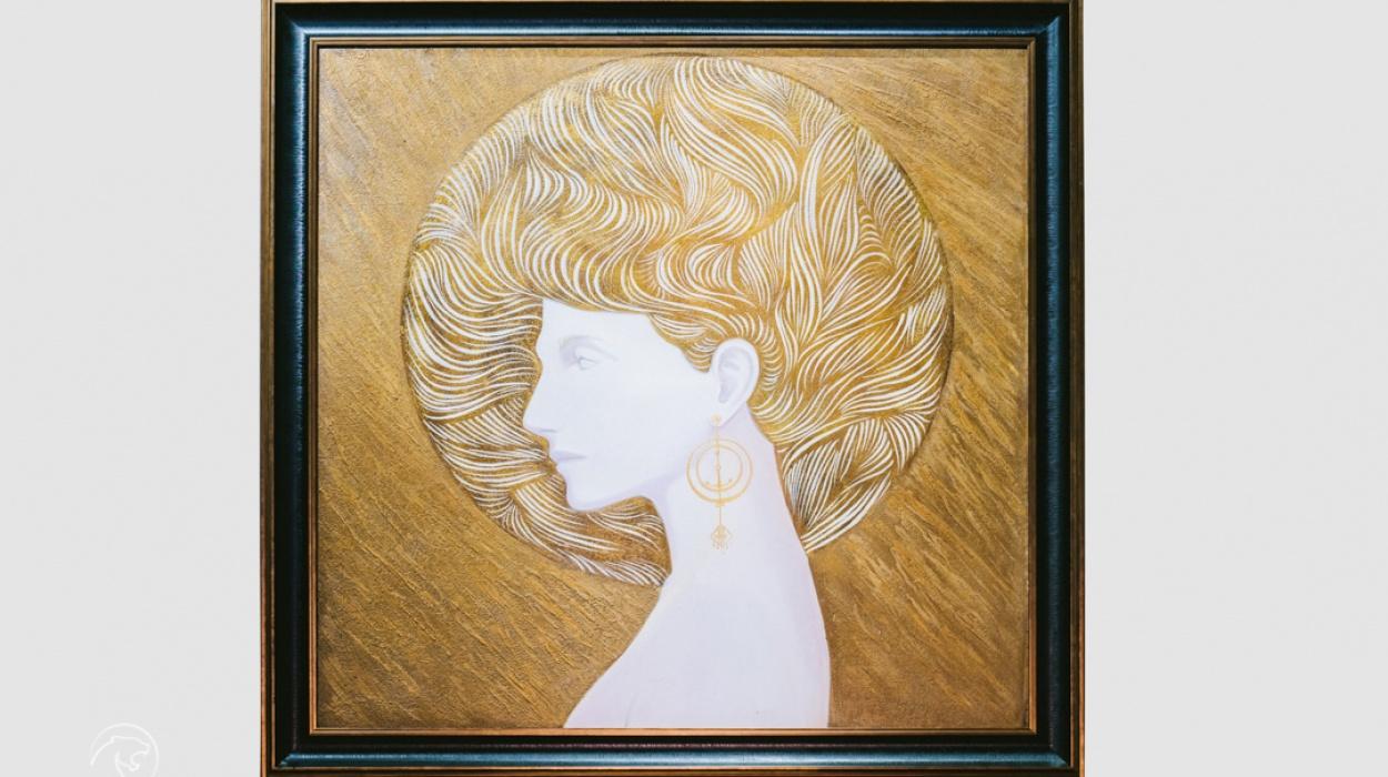 VSS x  tranh dát vàng LEO PARD