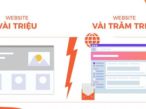 Thiết kế website vài triệu vs trăm triệu - Doanh nghiệp nên chọn gì?