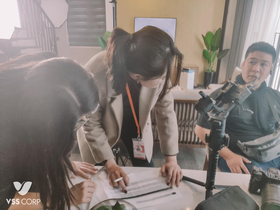 VSS Corp thảo luận kế hoạch hợp tác cùng diễn viên Thu Quỳnh