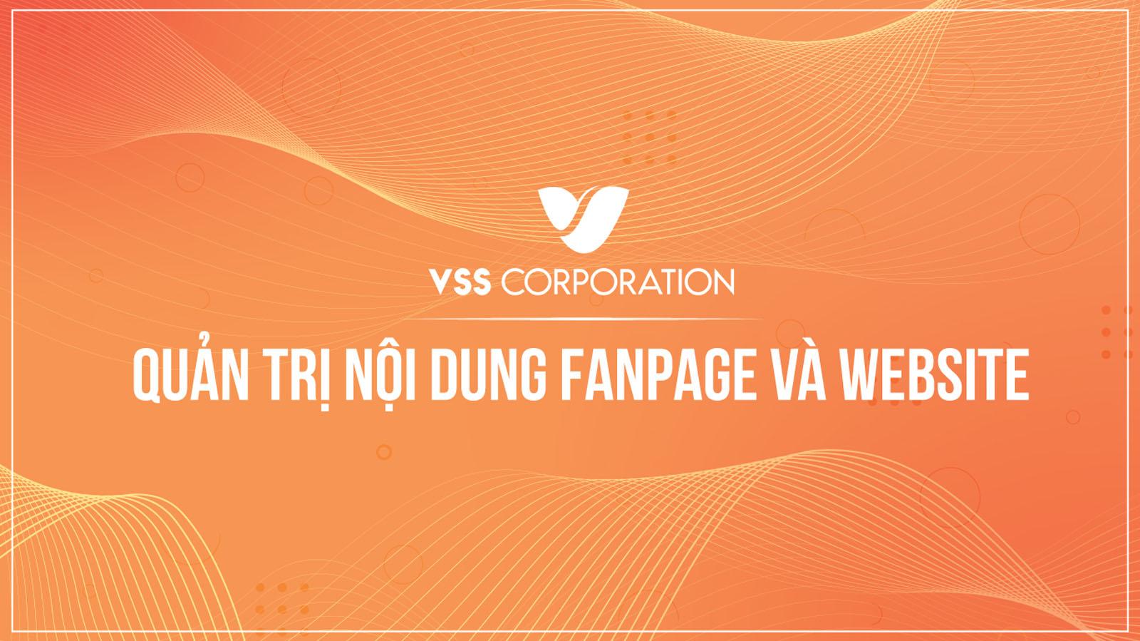 Quản trị nội dung fanpage và website vsscorp