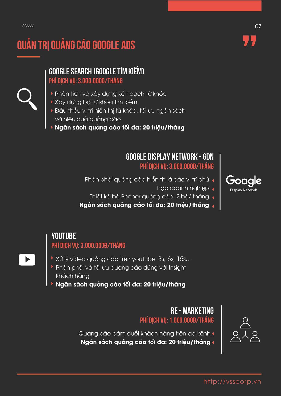 quản trị quảng cáo google ads vsscorp