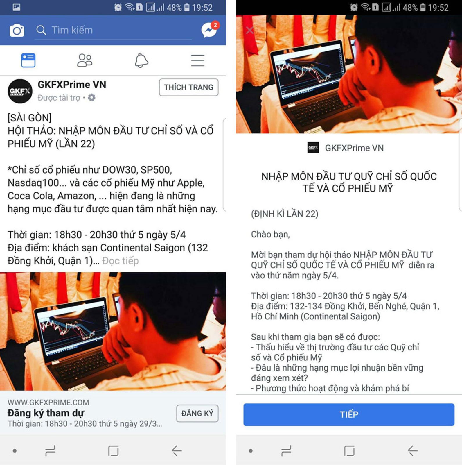 Các hình thức quảng cáo Facebook Sale & Khách hàng tiềm năng