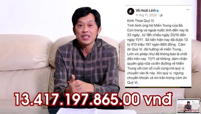 Ảnh từ video của nghệ sĩ Hoài Linh ngay 24.5