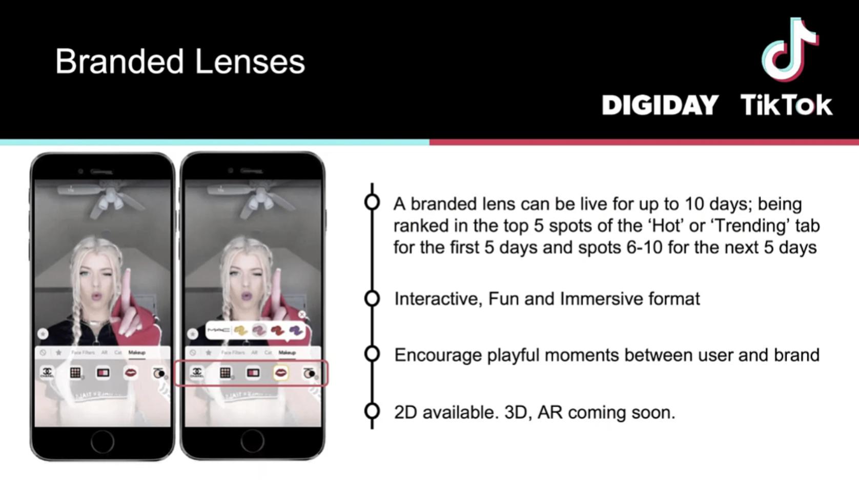 Quảng cáo TikTok dạng Branded Lense