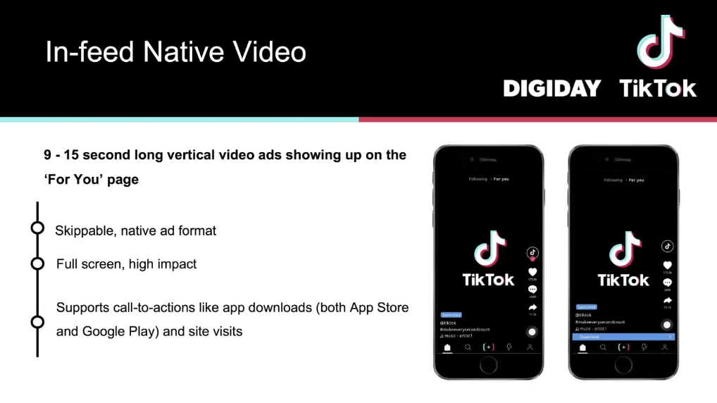 Quảng cáo TikTok dạng In-feed Video Ads