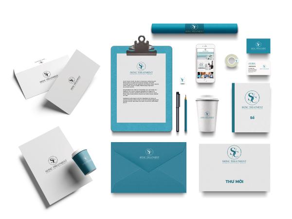 Bộ nhận diện thương hiệu Mỹ phẩm SkinC Treatment
